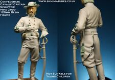 SK Miniatures Confederate Cavalry Officer ACW 120mm Unpainted kit Mike Good