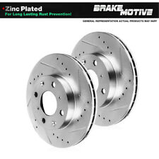 For Scion IQ Toyota Prius Yaris Front Drilled & Slotted Brake Rotors
