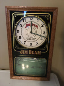 Jim Beam bar clock / sign
