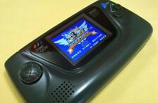 Refurbished Black Sega Game Gear System - Recapped, Glass Screen, McWill LCD!