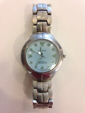 Men's Dress Watch Geneva Quartz Water Resistant White Face Glow In The Dark