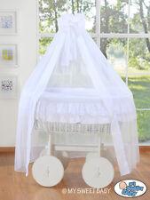 My Sweet Baby - Deluxe Drape Wicker Crib Bellamy- White Lace