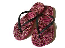 Havaianas Girl size 1 2 eur 33 34 black pink fitflops shoes