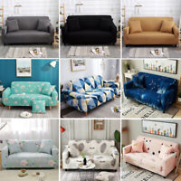 Washable Stretch Elastic Fabric Sofa Cover Sectional Pet Couch Covers 1-4 Seater