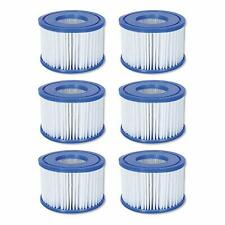 BESTWAY COLEMAN LAZY SPA POOL VI FILTER PUMP REPLACEMENT CARTRIDGE 6 PACK 58323E