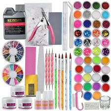 42 Brillo Colores UV Gel Nail Arte Decoración Juego DIY de Unas Manicura Sets