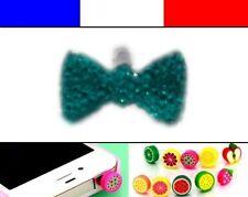 Cache anti-poussière jack universel iphone capuchon bouchon Noeud Bleu Ciel