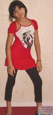 Vestido Túnica Niña Falsa conjunto Camiseta de tirantes Lolita Rock