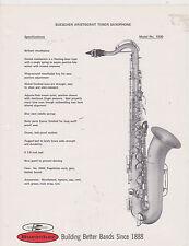 AD SHEET #2512 - 1970s BUESCHER MUSICAL INSTRUMENT - ARISTOCRAT TENOR SAX #1030