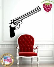 Wall Stickers Vinyl Decal Revolver Gun Gangster Weapons ig748