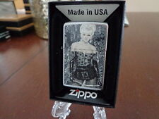 PINUP GIRL LEATHER GLOVES FISHNET STOCKINGS AND WHIP ZIPPO LIGHTER MINT IN BOX