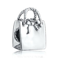 Fashion Handbag Silver Charms European Bead For 925 Sterling Bracelet Bangle
