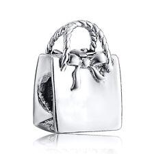 Fashion Handbag Silver Charms European Bead For 925 Sterling Bracelet Bangle