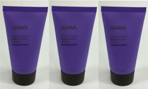 Lot of 3 AHAVA Mineral Body Lotion in Spring Blossom 1.3oz/40ml Travel Sz Sealed