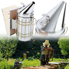Bee Hive Smoker Stainless Steel w/ Heat Shield Calming Beekeeping Equipment
