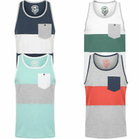 Sth Shore Mens Tide Colour Block Vest Muscle Tank Top Sleeveless T-Shirt Cotton