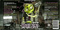 Beer label sticker RUSSIAN IMPERIAL STOUT craftbeer microbrewery AUSBIR Lipetsk