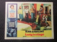 1964 LADY IN A CAGE Original 14x11 Lobby Card #7 VG 4.0 Olivia de Havilland