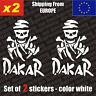 Set of 2 DAKAR Skull Logo Vinyl Sticker Decal Aufkleber Die-Cut, car, JDM