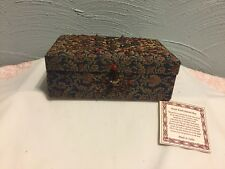 Hand Embroidered Designer Beaded Zari Jewelry Box Souvenir Nwt
