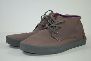 TOMS BOTAS MENS 11.5 Chukka Ankle High Boots Lace Up Light Purple Canvas 11.5M