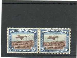 SG 86 SOUTH WEST AFRICA..AIR MAIL. FINE USED PAIR. CAT £36
