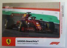 2020 F1 Topps Now card #2 Ferrari's 1000th Formula 1 Grand Prix Mugello PR:1047