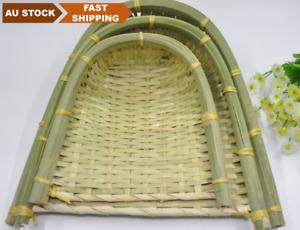 Bamboo woven handmade plate bamboo fruit baskets storage multiple use 竹筛子