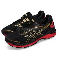 Asics GT-2000 7 Black Gold Red Men Running Training Shoes Sneakers 1011A262-001