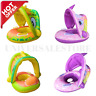 Baby Infant Inflatable Swimming Ring Canopy Float Seat Ring Swim Pool For Kids