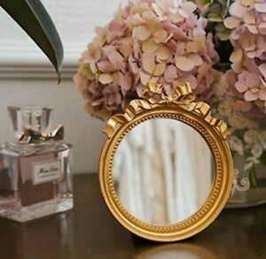 Decorative Mirror Resin European Style Retro Round for Bedroom Wedding Gifts
