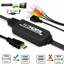 1080P RCA AV to HDMI Video Audio Cable Converter Adapter For TV PS3.4 DVD Camera