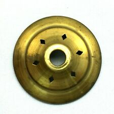 """N-106 Brass Heat Diffuse 2 1/4"""" Vase Cap for Stain Glass Lamp Shades and Repairs"""