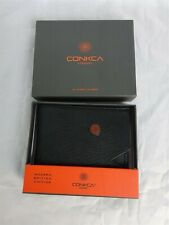 Conkca Mens Black Leather Max Wallet BNIB