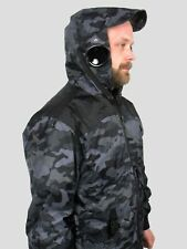 Hooded Black / Camouflage Bomber Mens Goggle Location Jacket Waterproof