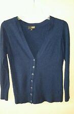 100% Merino Wool ana cardigan sweater dark blue a New York approach jrs size L