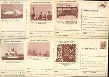 Romania 1975, 6 Unused Stationery Post Cards #C21394