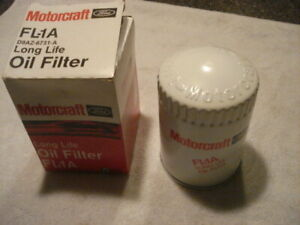 ^ New Old Stock FL-1A Motorcraft Embossed Oil Filter Box Date 1966 Ford Lincoln