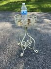 Vintage twisted Wrought Iron Architectural Garden Plant Stand patio MCM antique