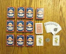 10 NEW DECKS OF MINI PLAYING CARDS MINITURE PLASTIC COATED TINY POKER CARD DECK