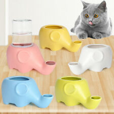 Elephant Shape Pet Cat Kitten No Spill Water Feeder Dispenser Drinking Bowl HOT