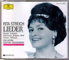 Rita STREICH: LIEDER Brahms Milhaud Mozart Schubert Schumann Strauss Wolf DG 2CD