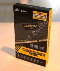 Corsair Vengeance LPX 64GB DDR4 SDRAM Memory 4x16GB PC4-19200 DDR4-2400 C14