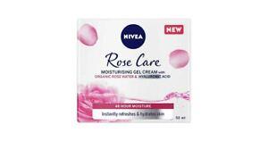 Nivea Rose Care Moisturising Gel Cream With Rose Water 50ML - Brand New UK