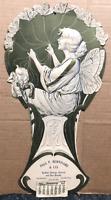 RARE ! LARGE BUTTERFLY FAIRY ART NOUVEAU CALENDAR SAN FRANCISCO 1907 EMBOSSED
