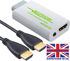 Wii HDMI Converter With 3ft HDMI Cable Scales Signal 720pand 1080p + 3.5MM Audio