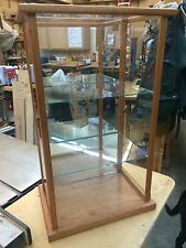 Wood and Glass / Doll Case / Display Case / Curio Case -  Mahogany