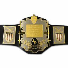 AWA World Heavyweight Wrestling Champion Belts Leather 4MM Plates Replica Adults