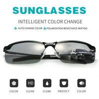 Herren Polarisierte Sonnenbrille Fahren Brillen Angeln UV400 photochrome Schwarz
