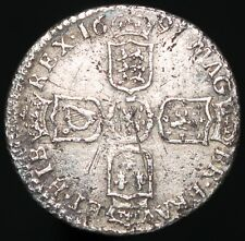 More details for 1697 | william iii sixpence 'third bust, york mint' | silver | coins | km coins